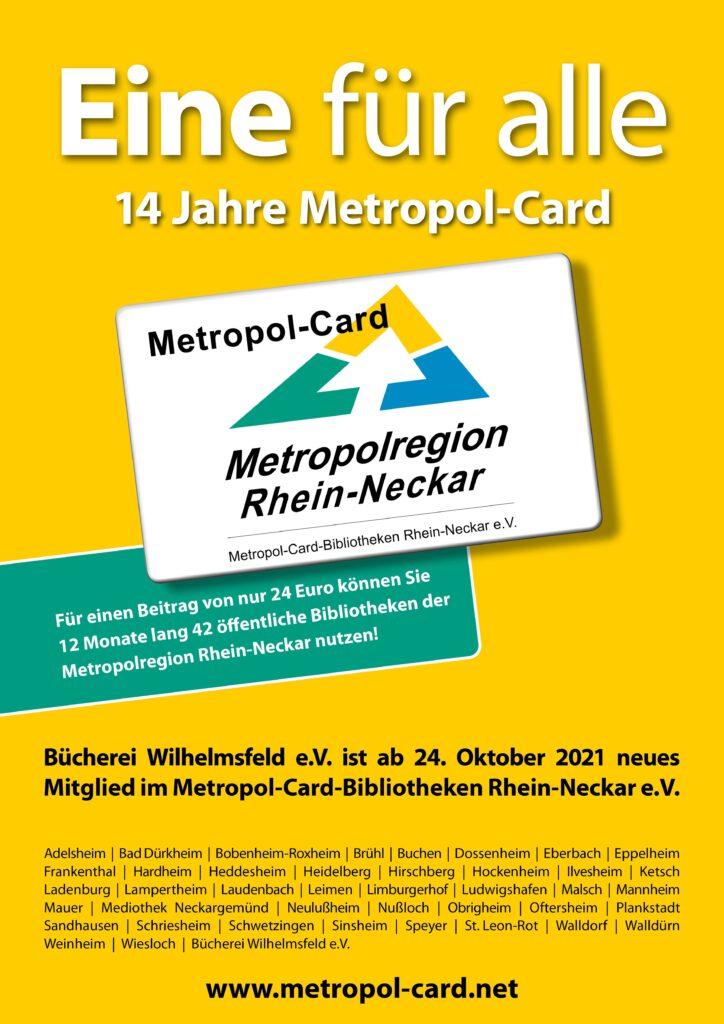 Metropol-Card Plakat Oktober 2021